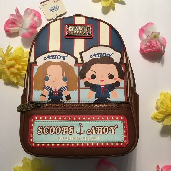 SDCC Loungefly Strange Things Scoops Ahoy Backpack NWT